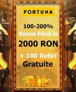 Bonus Fortuna pana la 2000 RON
