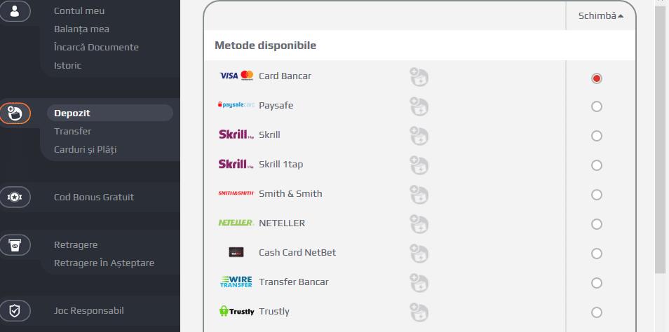 netbt ro lista pentru depunere