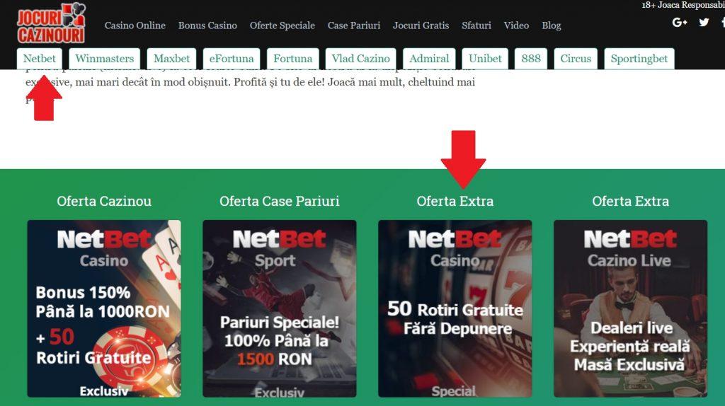printscreen pagina bonus gratuit netbet