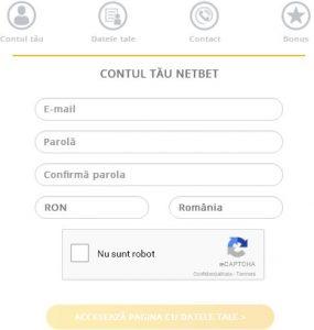 formular netbet înregistrare 1