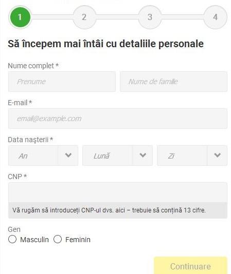 printscreen formular inregistrare unibet 1