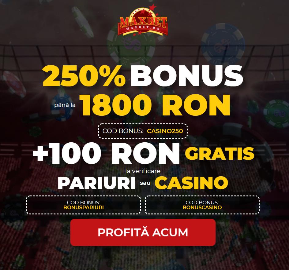 bonus 100 ron gratis maxbet