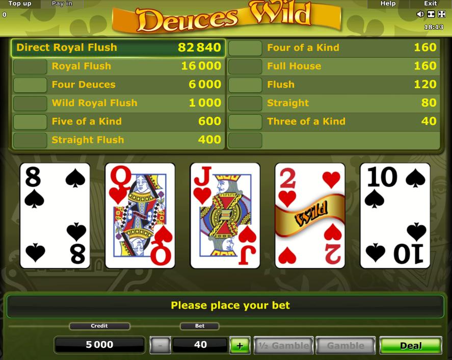 joc video poker admiral