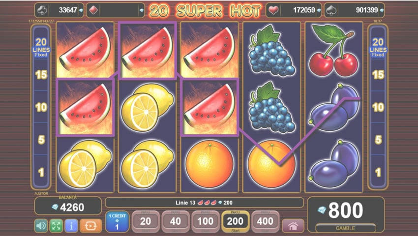 20 super hot slot gratis