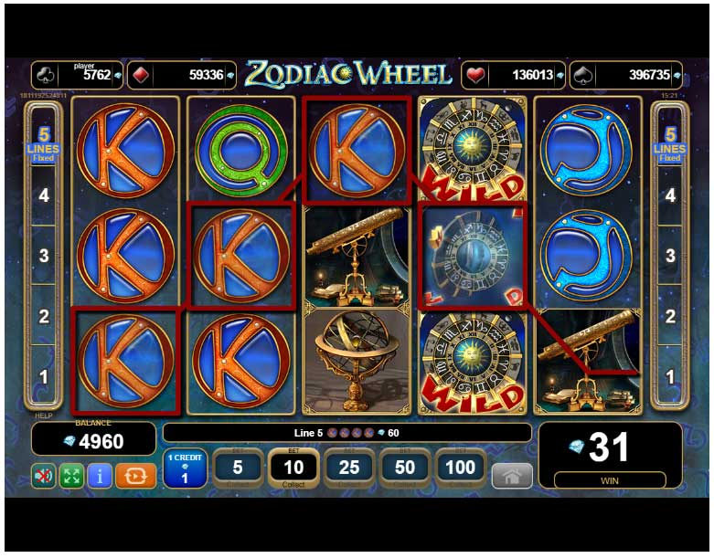 slot zodiac wheel la turneul de halloween