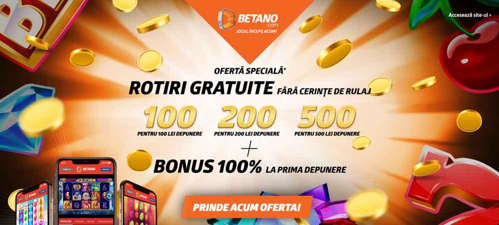 bonus betano cu 500 rotiri gratuite si 100% din depunere