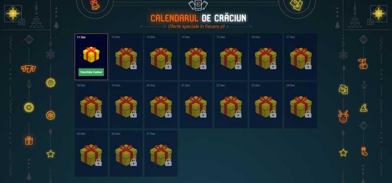 premiile calendarului de craciun betano