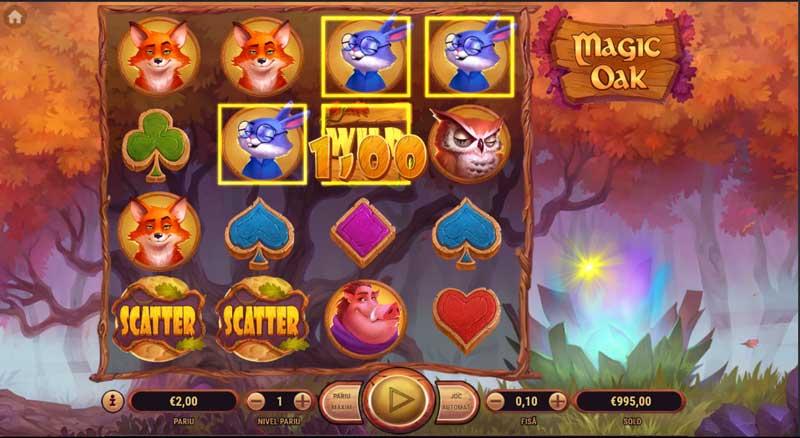 slotul magic oak la winbet casino