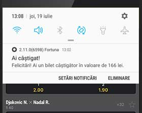 notificare din aplicatia efortuna