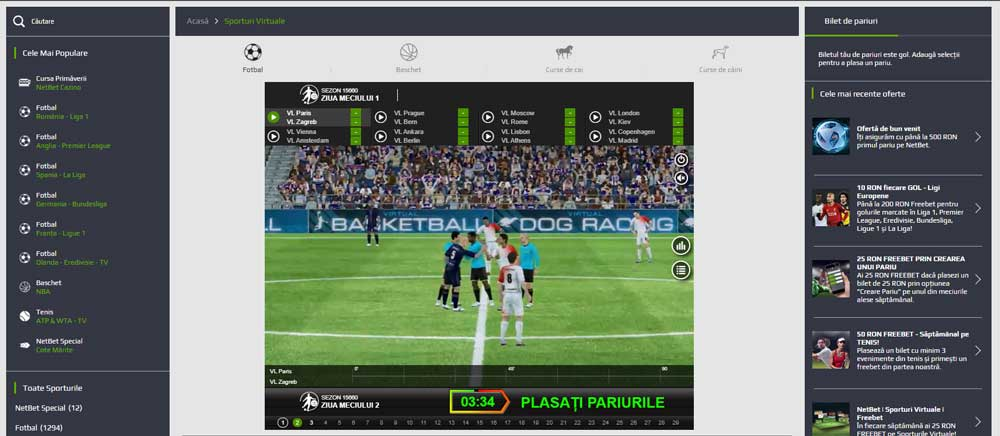 pariuri pe sporturi virtuale la netbet