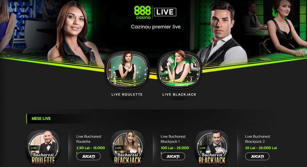 jocuri live 888 casino si rulaj bonus