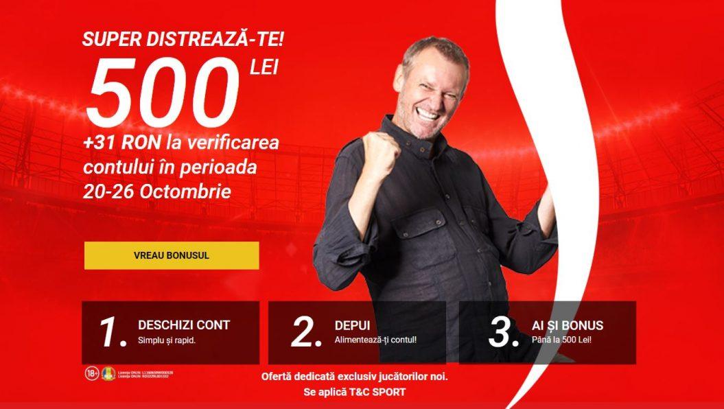 superbet 531 RON bonus