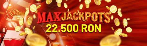 MaxJackpoturi: până la 22.500 RON CASH la Maxbet.ro