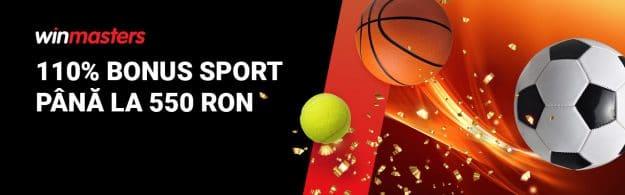 110% bonus sport până la 550 RON