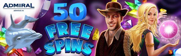 50 free spins admiral