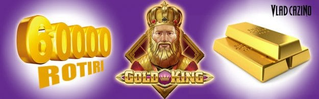 60.000 rotiri gratuite la Gold King