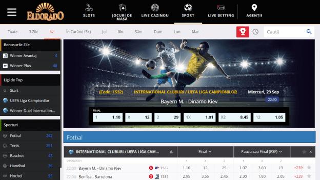 pariuri sportive Eldorado Casino