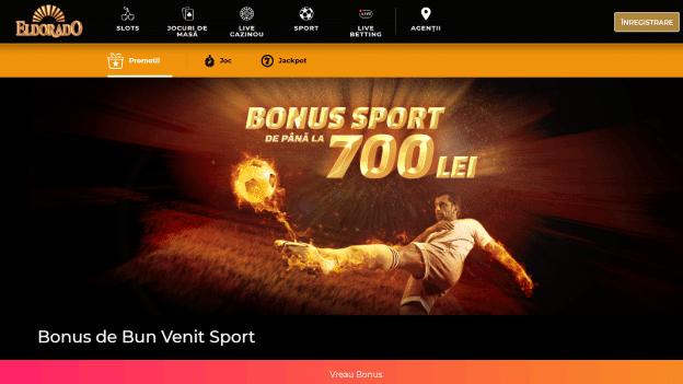 bonus de bun venit sport Eldorado Casino