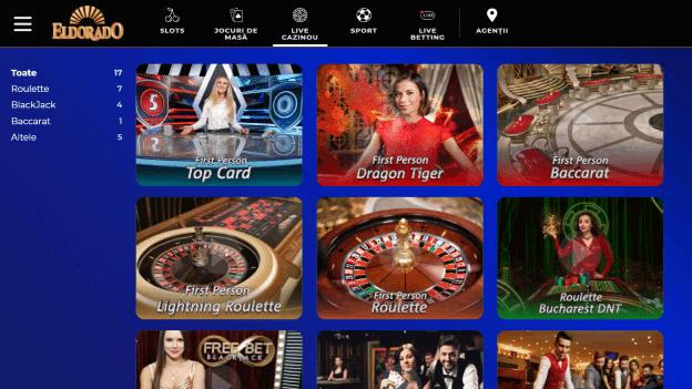 jocuri live casino Eldorado Casino