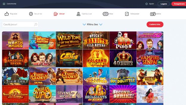portofoliul de jocuri online SlotV Casino